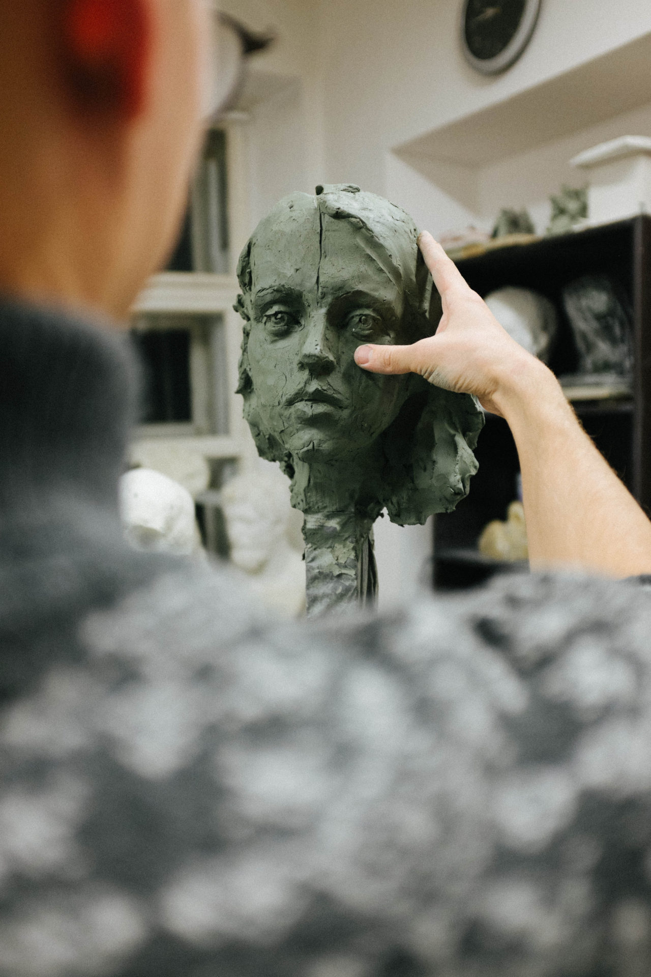 лепка портрета