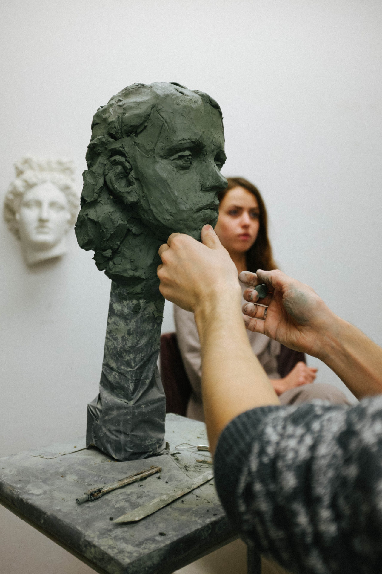 лепка портрета в СПб