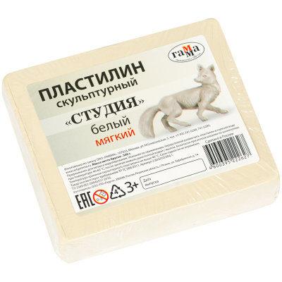 Пластилин Гамма мягкий белый 500 г