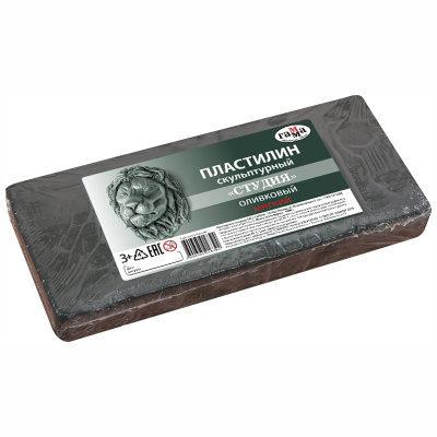 Пластилин Гамма мягкий оливковый 1000 г