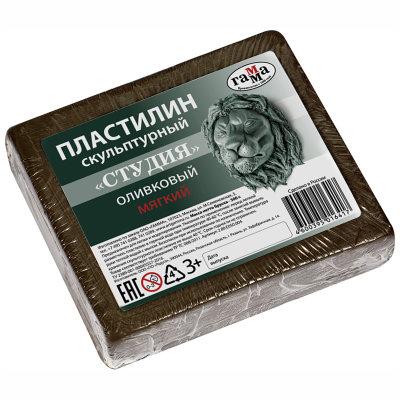 Пластилин Гамма мягкий оливковый 500 г
