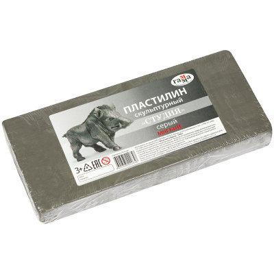Пластилин Гамма мягкий серый 1000 г