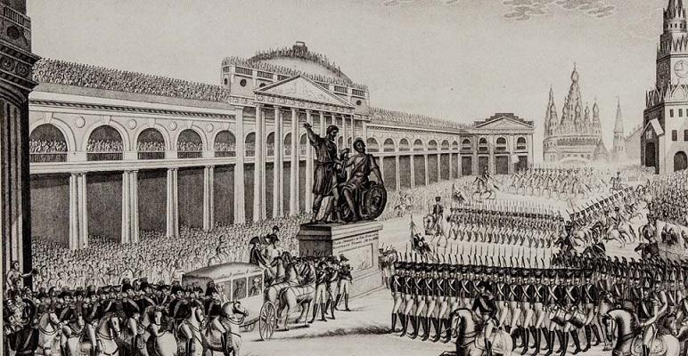 Открытие памятника Минину и Пожарскому на Красной площади в Москве, 1818
